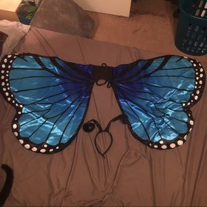 Cosplay butterfly wings w/ antennae headband